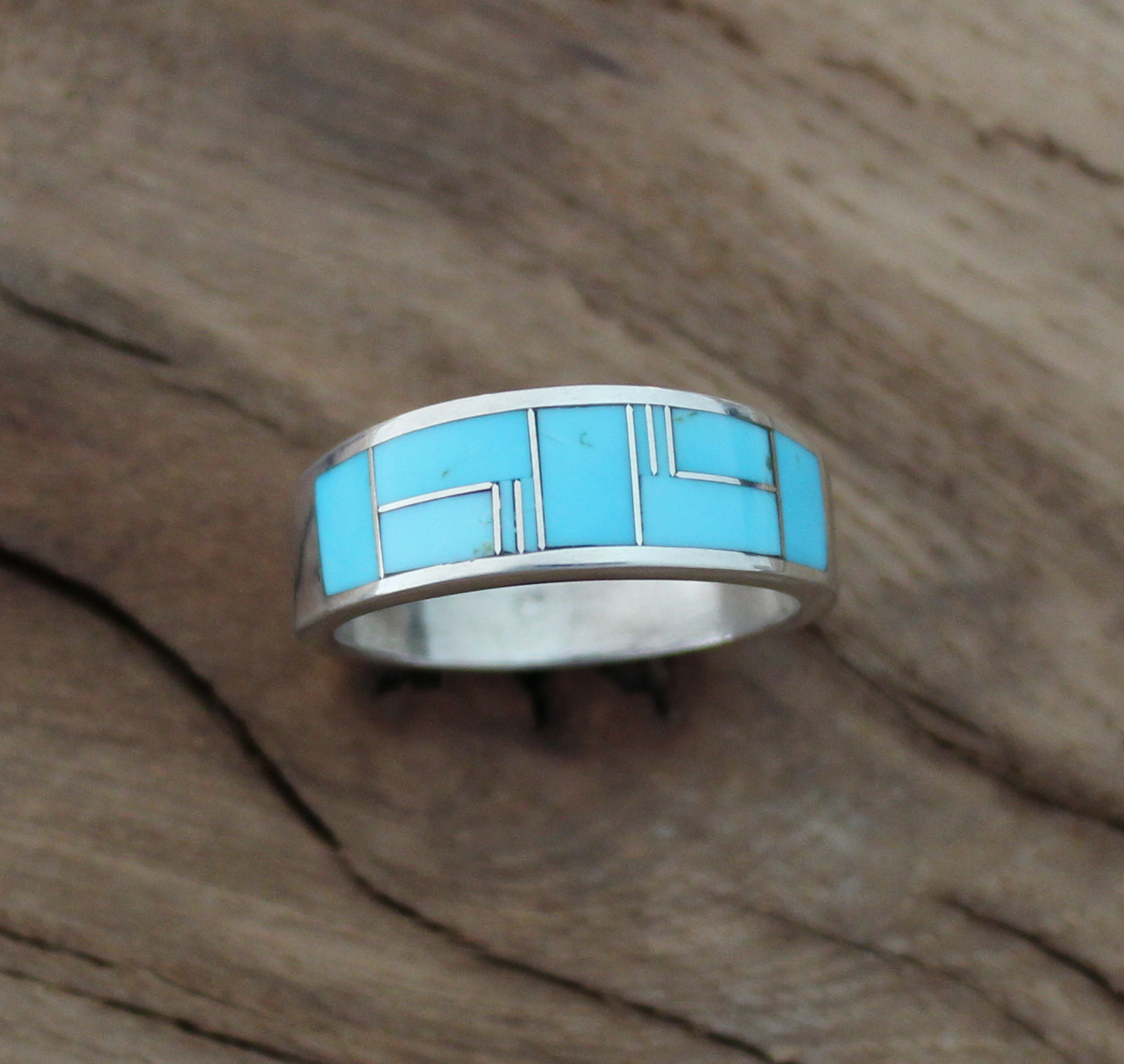 Men S Turquoise Inlay Ring