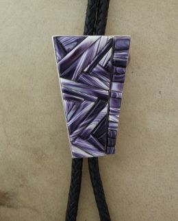 Men's Bolo with Wampum Cornrow Inlay II