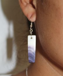 Medium Rectangular Wampum Earrings