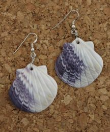 Extra Large Shell Wampum Earrings