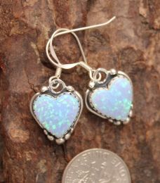 Opal Heart Shaped Earrings