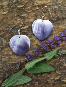 Wampum Heart Earrings