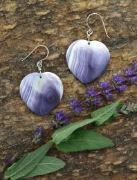 Large Heart Wampum Earrings