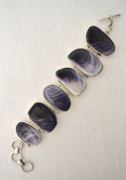 Large Round-Linked Wampum Bracelet