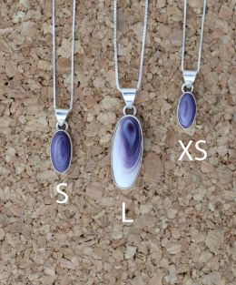 Simple Long-Oval Wampum Necklace