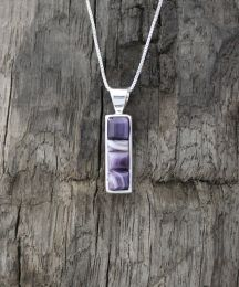 Small Rectangular Inlay Wampum Necklace