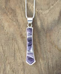 Pendulum Cornrow Inlay Wampum Necklace