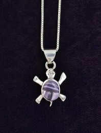 Mini Wampum Turtle Necklace