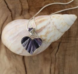 Large Reversible Heart With Wampum Inlay Pendant