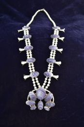 Wampum Squash Blossom Necklace