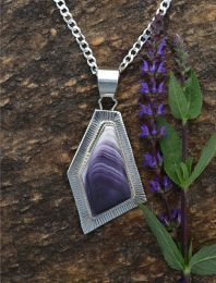 Wampum-Silver-Free form Pendant