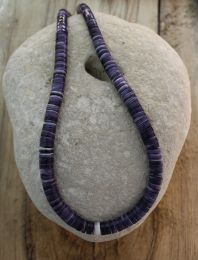 Wafer Beads Wampum Necklace