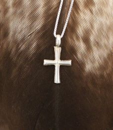 Mini Sterling Silver Cross Necklace