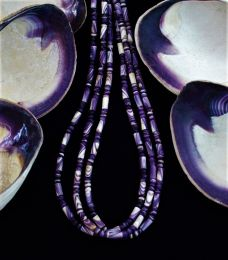Wampum Bead 3-strand Necklace