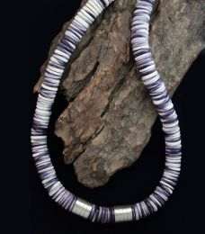 Large Rondelle Beads Wampum Necklace