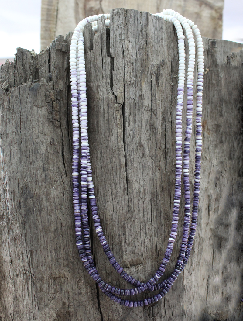 wampum corn beads 3strand necklace