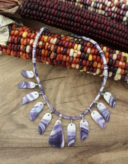 'Spirit Wings' Wampum Choker Necklace