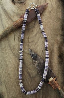 Wampum Wafer Bead Necklace