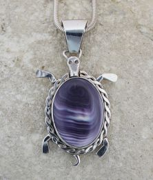 Large/Medium Wampum Turtle Pendant