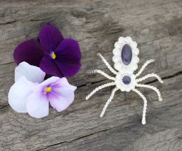 Wampum Spider Pin