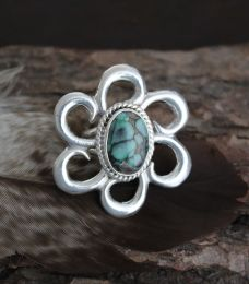 Silver Flower Ring 4