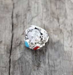 Bear Head Sterling Silver Ring