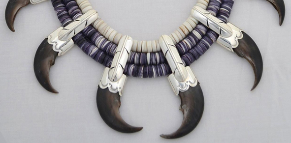 The chief is present bear claw necklace chief is present bear claw wampum necklace mozeypictures Image collections